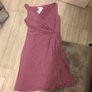 Ann Taylor Lilac Wrap Dress